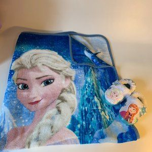 Disney Froze plush throw blanket and slippers 7/8